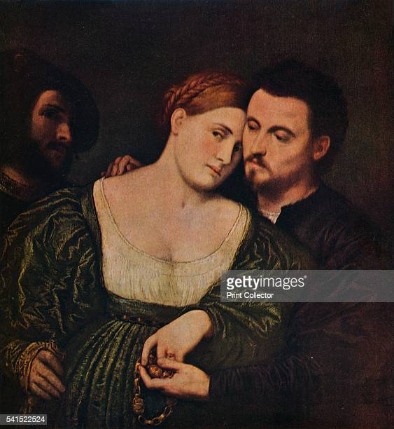 The Lovers' 15251530 Painting held at the Pinacoteca di Brera Milan From The World's Greatest Paintings Vol 2 edited by T Leman Hare [Odhams Press...