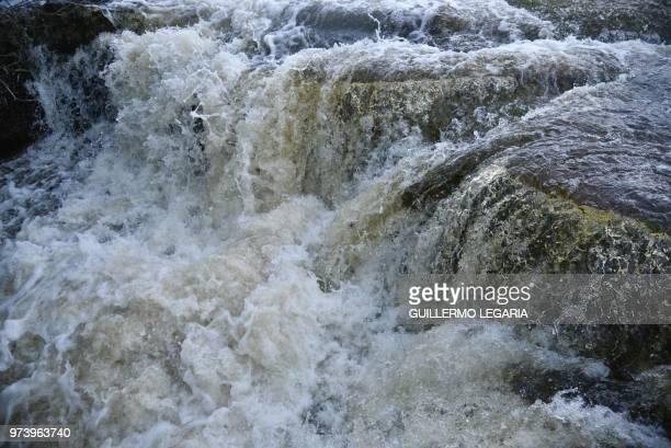"""The """"lovers' waterfall"""" in the Serrania La Lindosa in the Amazonian jungle department of Guaviare, Colombia, on June 7, 2018. - The Serrania La..."""