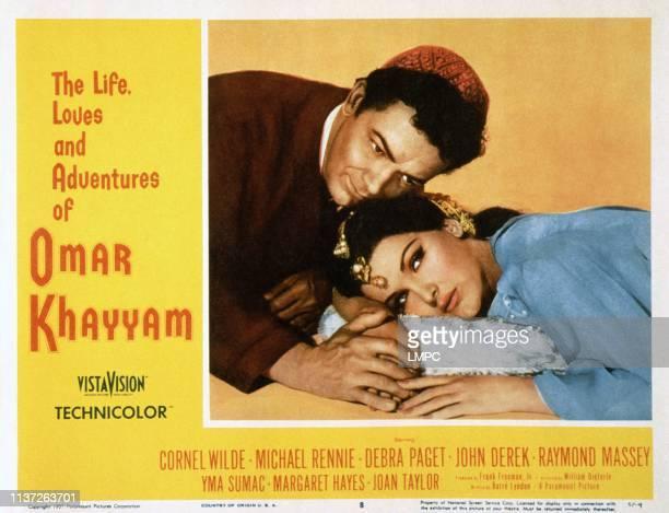 The Loves Of Omar Khayyam, , US lobbycard, from left: Cornel Wilde, Debra Paget, 1957.