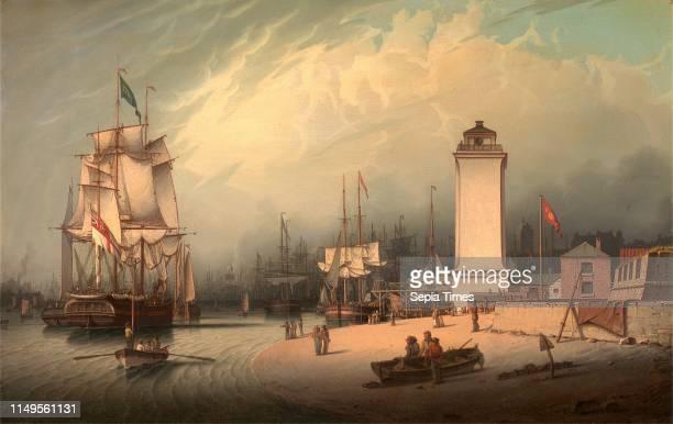 The Low Lighthouse, North Shields, Robert Salmon, 1775-ca.1845, British