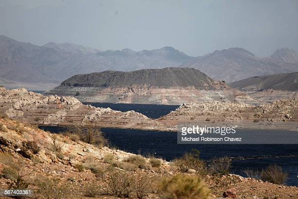 The low water levels are plainly visible at Lake Mead which is fed by the Colorado River and Lake Powell John Entsminger Director of the Southern...