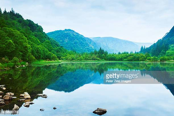 The Lower Lake in Glendalough, County Wicklow, Ireland at dawn