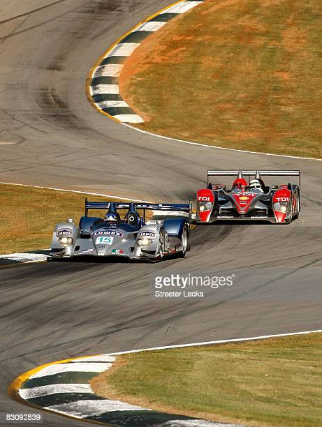 The Lowe's Fernandez Racing Lowe's Acura ARX-01B Acura driven by Adrian Fernandez, Luis Diaz and Michel Jourdain during practice for the American Le...