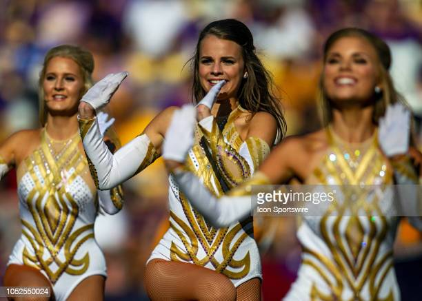 The LSU Golden Girls entertain the crowd during a game between the LSU Tigers and the Georgia Bulldogs on October 13 at Tiger Stadium in Baton Rouge...