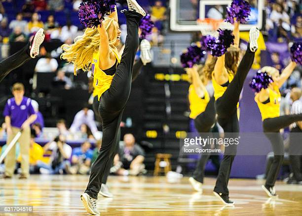 The LSU Tiger Girls entertain the crowd during a game on January 14 2017 between the Alabama Crimson Tide and the LSU Tigers at the Pete Maravich...