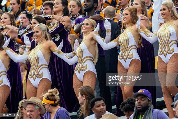 The LSU Tigers Golden Girls entertain the crowd during a game between the LSU Tigers and Southeastern Louisiana Lions at Tiger Stadium in Baton Rouge...