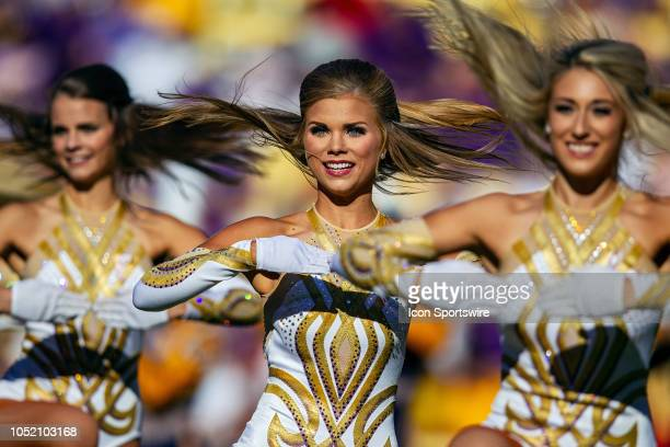 The LSU Tigers Golden Girls entertain the crowd during a game between the LSU Tigers and the Georgia Bulldogs on October 13 at Tiger Stadium in Baton...
