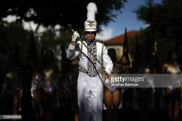 The LSU Tigers marching bands perfroms before a game against the Southeastern Louisiana Lions at Tiger Stadium on September 8, 2018 in Baton Rouge,...