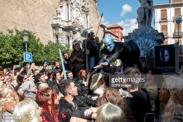 The Lucas dressed as Game of Thrones seen jumping during the celebrations Every year medicine students celebrate El Lucas in Granada with the...