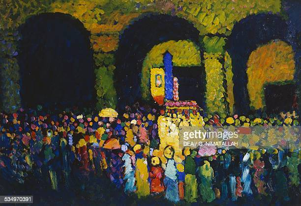 The Ludwigskirche in Munich by Vassily Kandinsky oil on cardboard 67x96 cm Germany 20th century LuganoCastagnola Villa Favorita