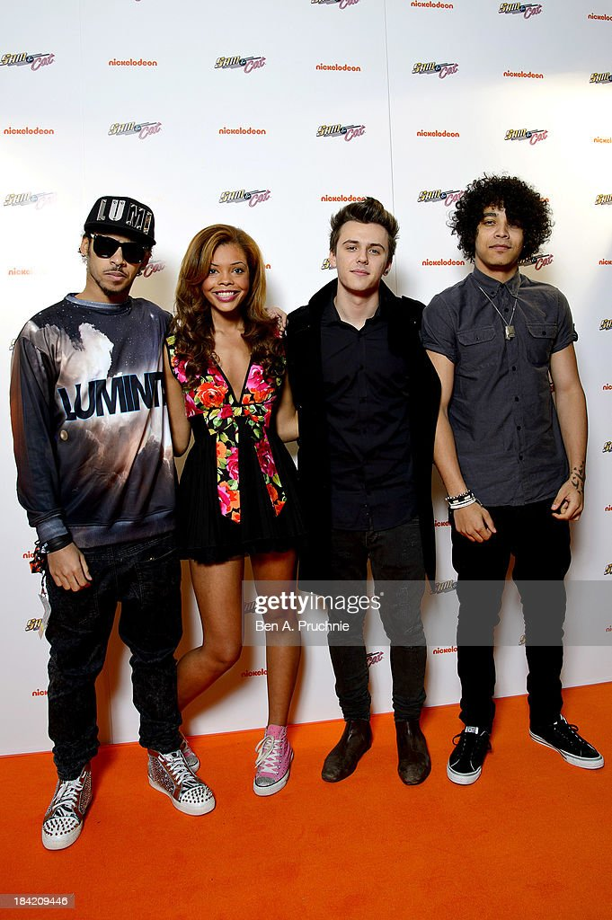 The Luminites attend the UK Premiere of Sam & Cat at Cineworld 02 Arena on October 12, 2013 in London, England.