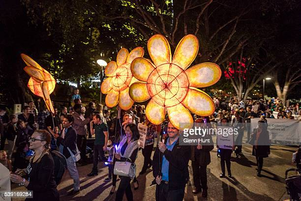 The Luminous Lantern Parade on June 10, 2016 in Brisbane, Australia. The annual parade is aimed at promoting multiculturalism and welcome new...
