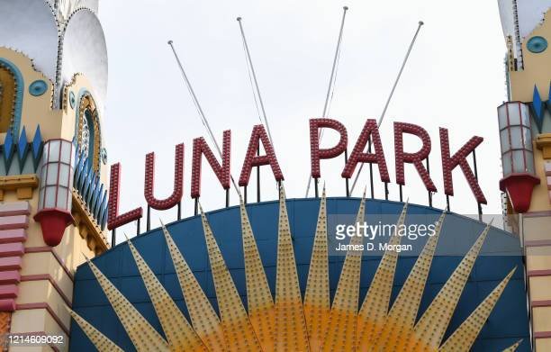 The Luna Park amusement theme park shutdown in the suburb of North Sydney on March 25 2020 in Sydney Australia Prime Minister Scott Morrison...