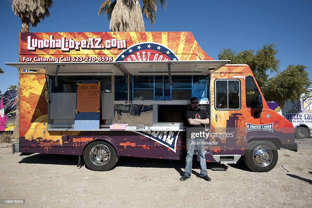 The LunchaLibre Truck Prepares To Open At 2012 Palm Springs Food Festival On February