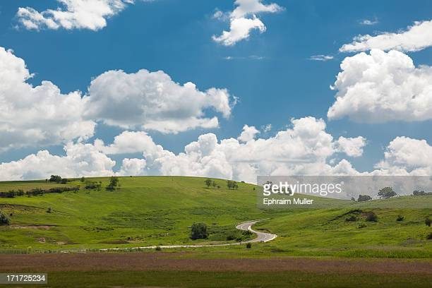 The lush almost comic book like landscape of the countryside bordering Transylvania