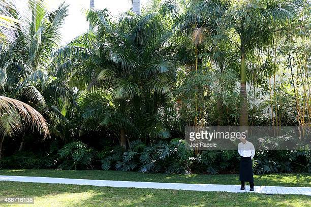 The lushly landscaped grounds around the former home of Al Capone are seen during a tour of the historic house on March 18 2015 in Miami Beach...
