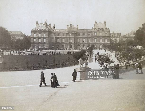 The Luxembourg Palace in Paris built in 1615 for Marie de Medici circa 1880