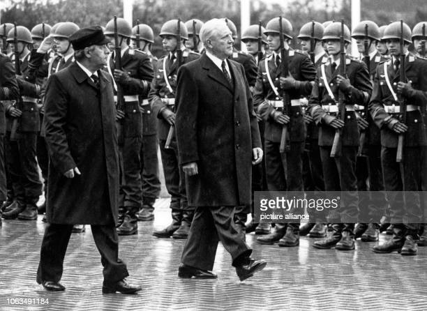 The Luxemburgian ministerpresident Pierre Werner met the German chancellor Helmut Schmidt for a political exchange of views in Bonn on 15 July 1980...