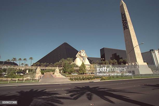 The 'Luxor' Hotel and its copy of the Sphinx and the pyramids