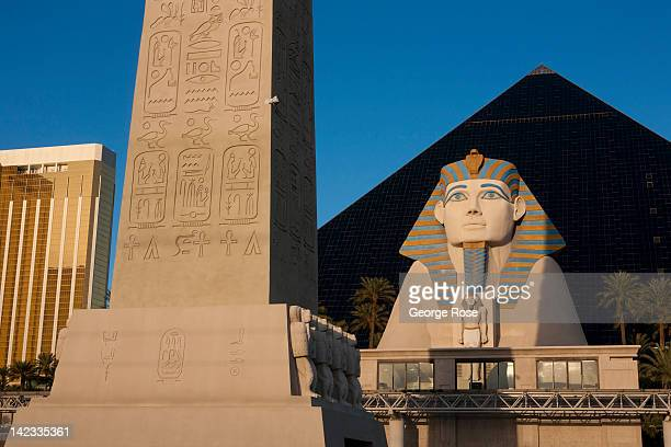 The Luxor Hotel Casino located at the south end of the Las Vegas Strip is viewed on March 18 in Las Vegas Nevada Hit hard by a fouryear economic...