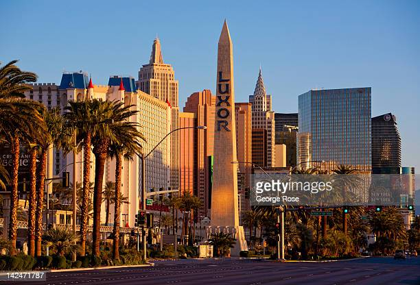 The Luxor Hotel Casino obelisk located at the south end of the Las Vegas Strip is seen on March 18 in Las Vegas Nevada Hit hard by a fouryear...