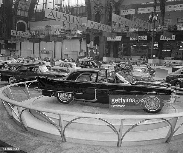 The luxury Cadillac Eldorado 'Coupe De Ville' is shown on display at the Paris International Auto Show It is powered by an eightcylinder 309...