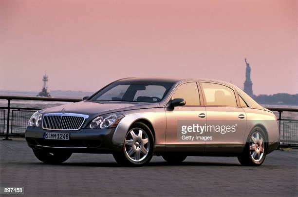 The luxury car brand highend automobile Maybach 62 which is officially presented July 2 2002 in New York City The automobile is the first limousine...