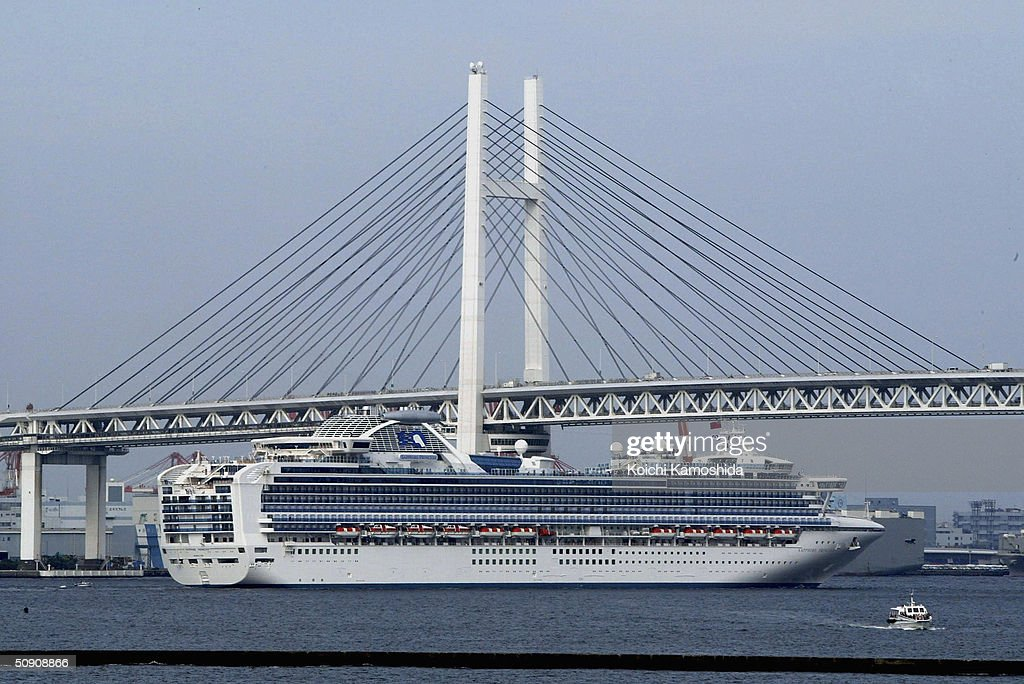 Luxury Cruise Ship Sapphire Princess Leaves Yokohama Port Photos - Princess cruise ship fire
