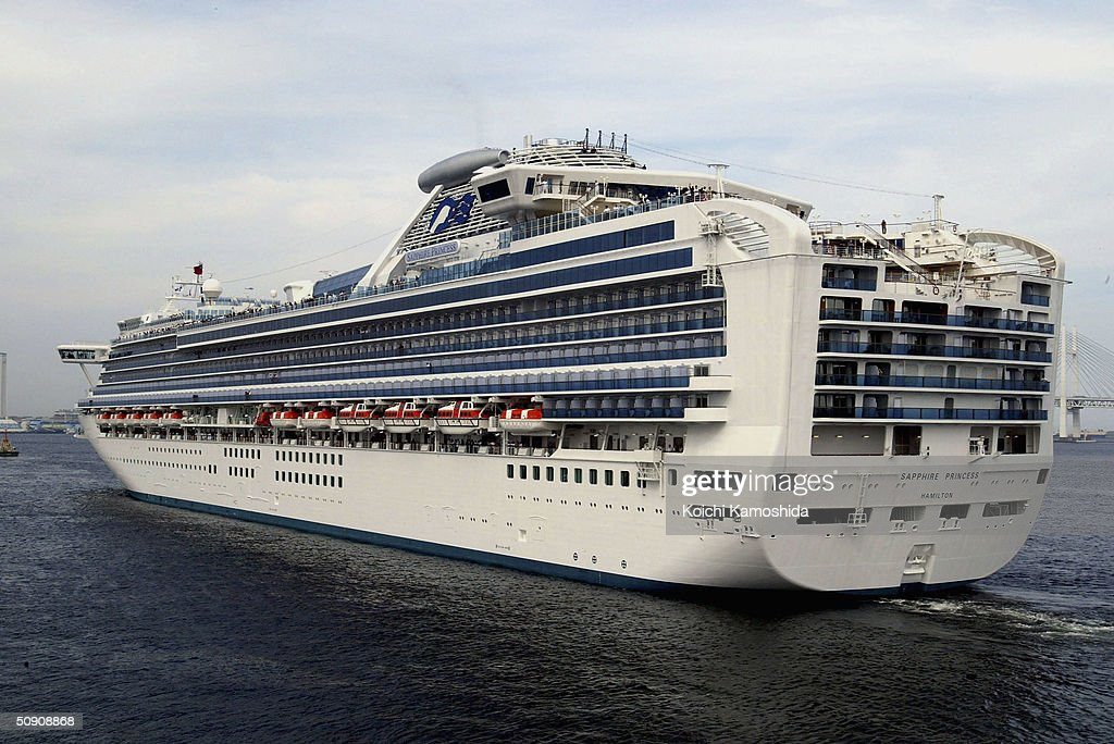 Luxury Cruise Ship Sapphire Princess Leaves Yokohama Port Photos - How heavy is a cruise ship