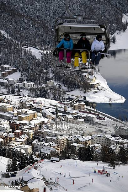 The luxury ski resort of StMoritz is seen on December 9 2012 Switzerland's Olympic committee is backing a joint bid from the luxury Alpine resorts of...