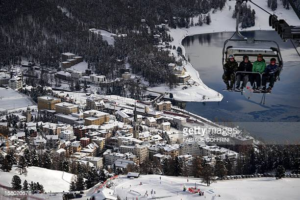 The luxury ski resort of StMoritz is seen on December 9 2012 Switzerlands Olympic committee is backing a joint bid from the luxury Alpine resorts of...