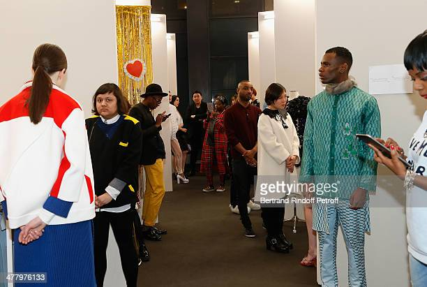 The LVMH Prize SemiFinalists Designers Cocktail Party on February 26 2014 in Paris France