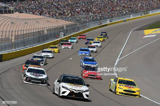 The LVMS Toyota Camry pace care leads the field before the start of the Pennzoil 400 Monster Energy NASCAR Cup Series race on March 4 at Las Vegas...