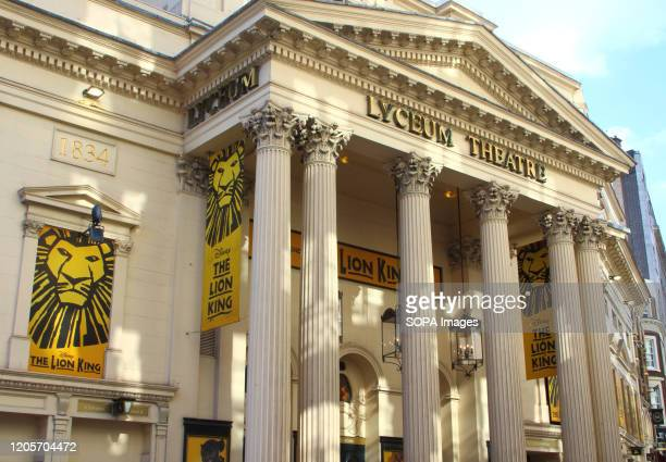 The Lyceum theatre in Wellington Street current home to 'The Lion King' in London's home of Theatre - The West End. Some of the most famous...