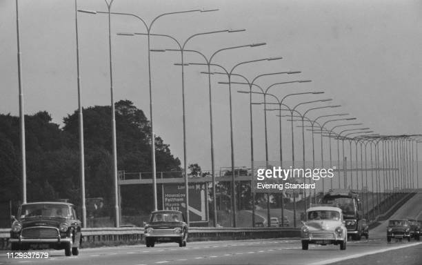 The M4 motorway near Hayes Middlesex UK 8th October 1968