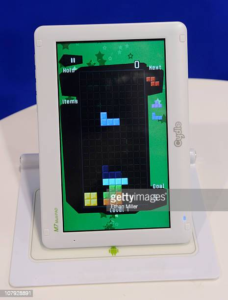 The M7 MultiPAD by Cydle displays the game Tetris at the 2011 International Consumer Electronics Show at the Las Vegas Convention Center January 7...