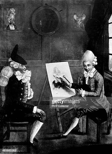 'The Macaroni Painter or Billy Dimple sitting for his picture' 1770 The painter Richard Cosway paints a 'macaroni' or dandy in this satire on...