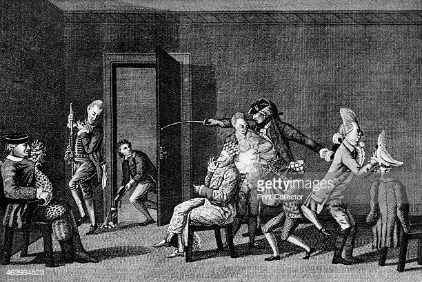 'The Macarony Dressing Room' 1772 A satire on the affectations of the 18thcentury 'macaroni' a sort of dandy Illustration from Social Caricature in...