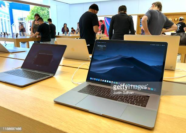 The MacBook Pro laptop is displayed at an Apple Store on June 27 2019 in Corte Madera California Apple announced a recall of an estimated 432000...