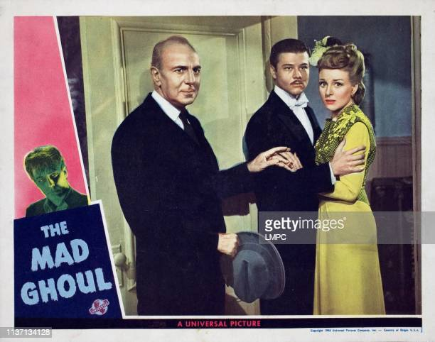 The Mad Ghoul lobbycard David Bruce George Zucco Turhan Bey Evelyn Ankers 1943