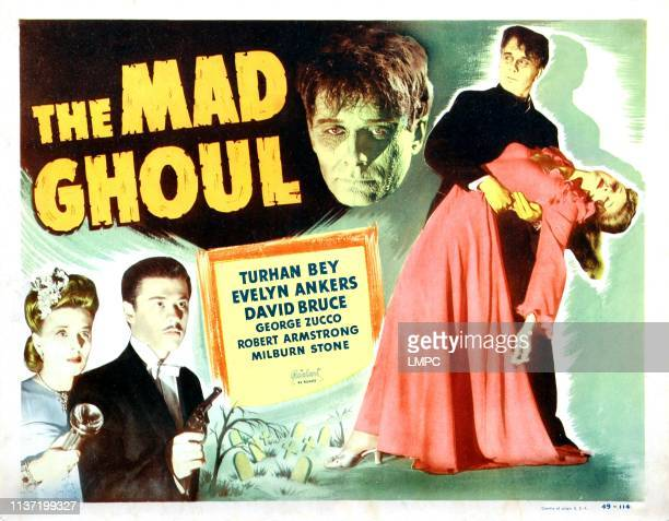 The Mad Ghoul poster Evelyn Ankers Turhan Bey David Bruce 1943