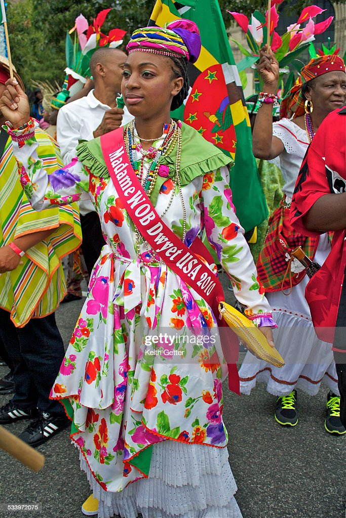 The Madame Wob Dwyet USA 2010 Pageant Winner In Her Traditional Dress From Dominica