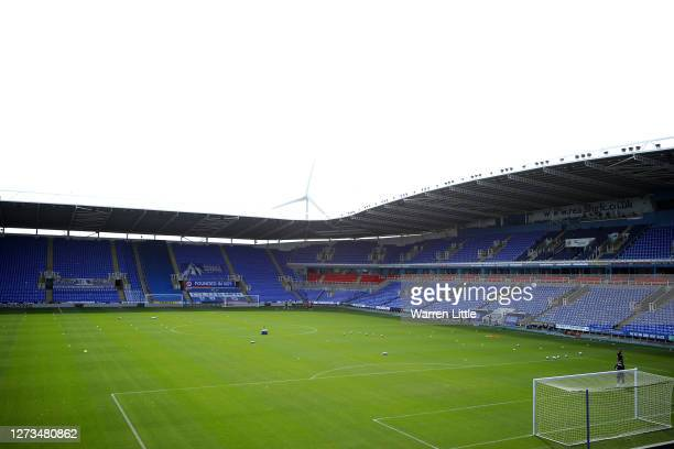 The Madejski Stadium is pictured ahead of the Sky Bet Championship match between Reading and Barnsley at Madejski Stadium on September 19 2020 in...