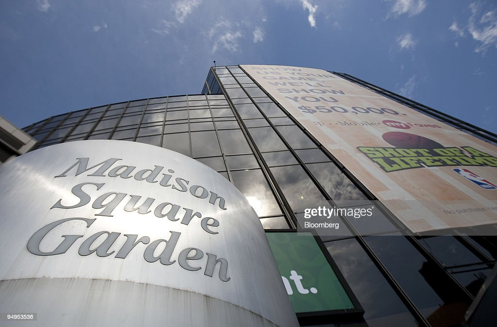 The Madison Square Garden arena sits in New York, U.S., on F : News Photo