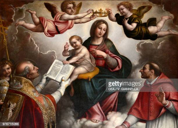 The Madonna and Child between the Saints Gregory the Great and Charles Borromeo by Enea Salmeggia church of Saint Gregory the Great Gromo San Marino...