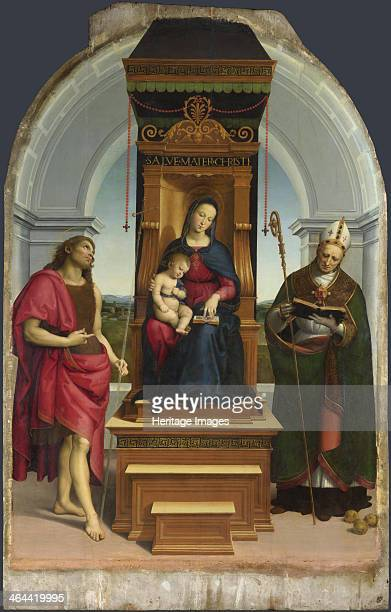 The Madonna and Child with Saint John the Baptist and Saint Nicholas of Bari 1505 Found in the collection of the National Gallery London