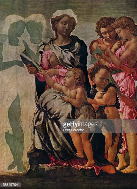 The Madonna and Child with St John and Angels c1497 This painting is also known as the The Manchester Madonna Painting held in The National Gallery...