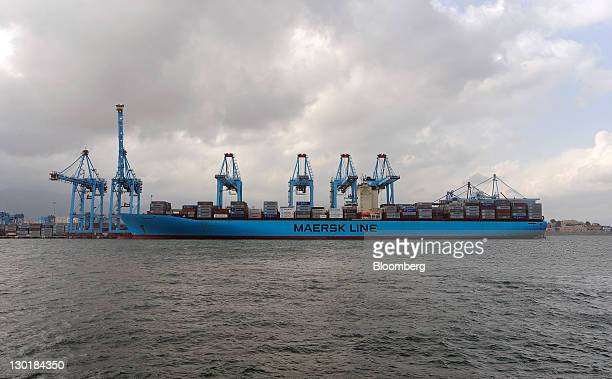 The Maersk Line container ship 'Evelyn Maersk' stands at the APM terminal at Algeciras port in Algeciras Spain on Friday Oct 21 2011 Russia and other...