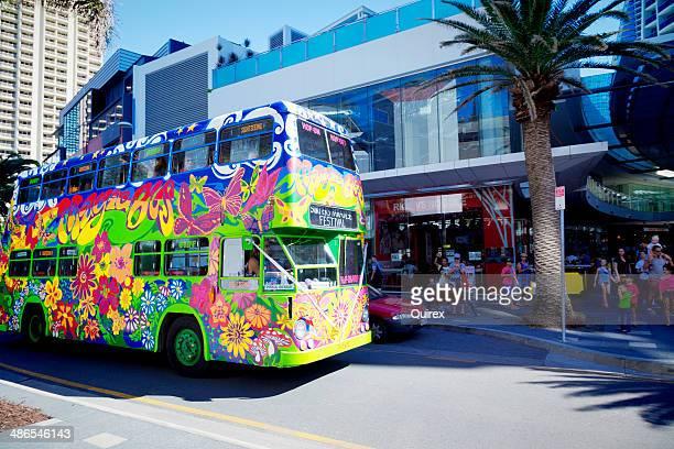 the magic bus, surfers paradise - magic bus bildbanksfoton och bilder