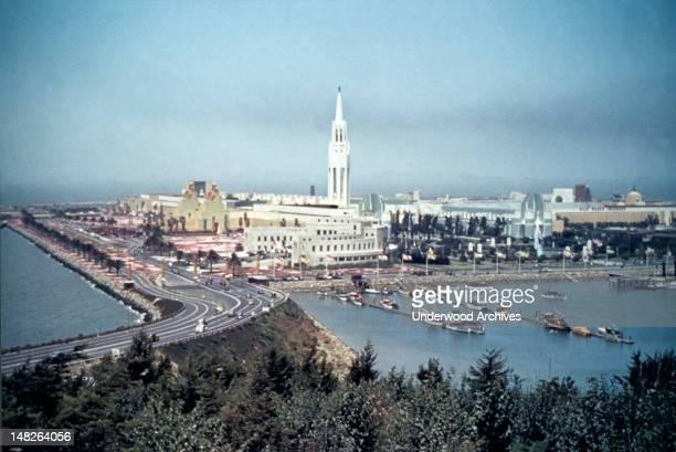The 'Magic City' of the Golden Gate International Exposition held on Treasure Island in San Francisco Bay San Francisco California 1939